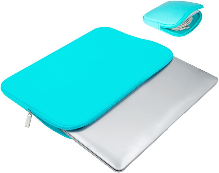 RAINYEAR 16 Inch Laptop Sleeve Soft Lining Cover Case Carrying Bag with Accessories Pouch,Compatible with 2019 2020 New Model 16 MacBook Pro//Touch Bar Specially for A2141 Blue,Upgraded Version