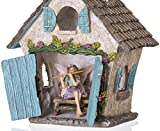 Joykick Fairy Garden House Kit With Miniature Fairy Figurine And Accessories, Set of 4 pcs
