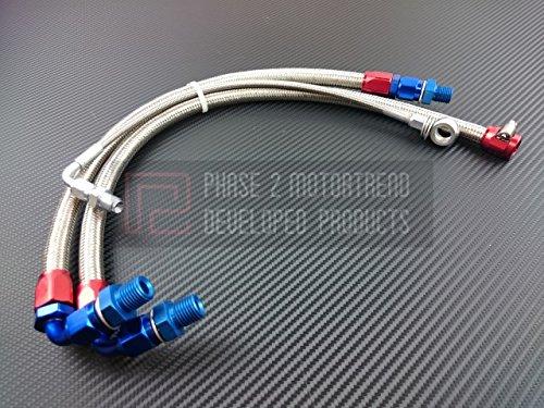 P2M Nissan S13 SR20DET 3pcs T25 Bottom Mount Turbo Line Kit