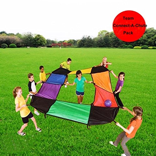 KINDEN Parachutes Sports - Team Building Activity PE & Recreation Youth Character Development Toy for Kids and Adults]()