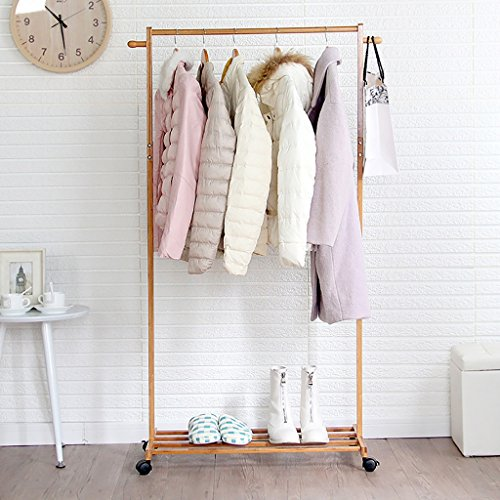 - NSS Coat Rack Floor-Standing Solid Wood Clothes Hanger Single Pole it can Move Clothes Tree Simple Suitable for Bedroom Living Room and Other Scenes Hall Tree (Color : 60cm)