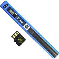 Aibecy - Escáner inalámbrico portátil A4 (Formato 900DPI, JPG/PDF, Pantalla LCD, con Funda Protectora y Tarjeta TF de 8 GB para Documentos de Empresa), Color Azul