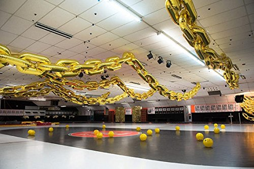 90s Party Decorations Giant Balloon Chain Balloons Gold 40 Birthday