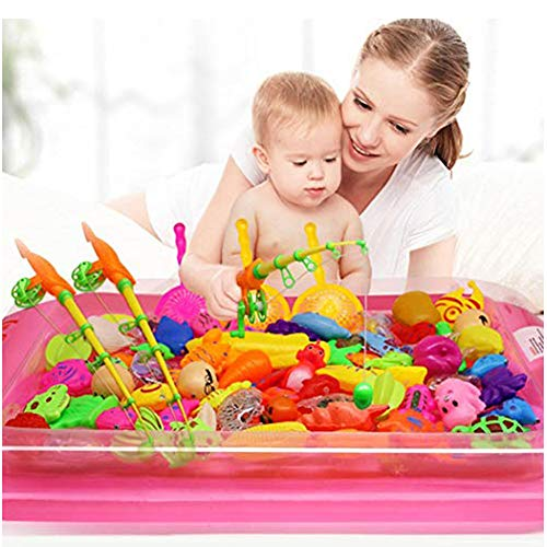 MUDEREK 22-Piece Creative Baby Bathing Toy Magnetic Fishing Toy Set Bath Toys-Not Include an Inflatable Pool