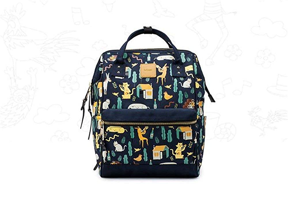 WCH 女性のバックパック新しいキャンバス学生のバックパックバッグ レディバックパック B07PXMCNP5 ブルー 39X27X17CM