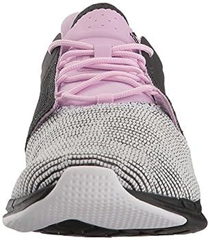 Reebok Women's Fast Flexweave Running Shoe, Coalwhitemoonglowacid Pink, 8.5 M Us 3