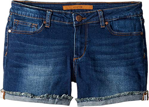 Joe's Jean Girls' Big Stretch Denim Jean Short, Roll Up Hem Dark Indigo, 8