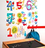 Wallies Wall Decals, Counting Numbers Wall Stickers, Includes 10 Numbers