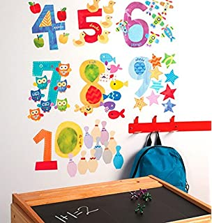 Wallies Wall Decals, Counting Numbers Wall Stickers, Includes 10 Numbers Part 16