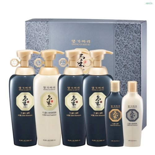 [Doori] Daeng Gi Meo Ri KI Gold Energizing Shampoo (500ML) & Conditioner (500ML) Set (4 Big Bottles & 2 Travel Sized -