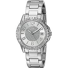GUESS Women's U0779L1 Crisp Silver-Tone Watch with Date Function
