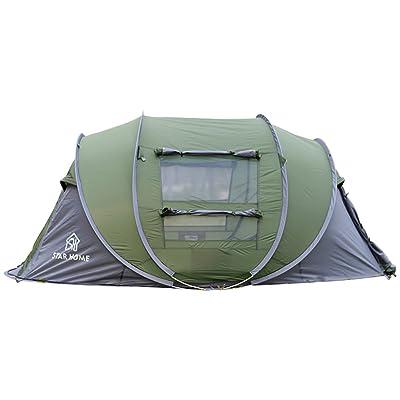 étoile Maison Pop Up Tente 3personnes Famille Instant tentes (Vert armée)