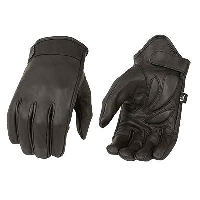 Milwaukee Leather Men's Premium Leather Short Cruiser Gloves, Black MG7510 (L): Milwaukee Leather: Automotive