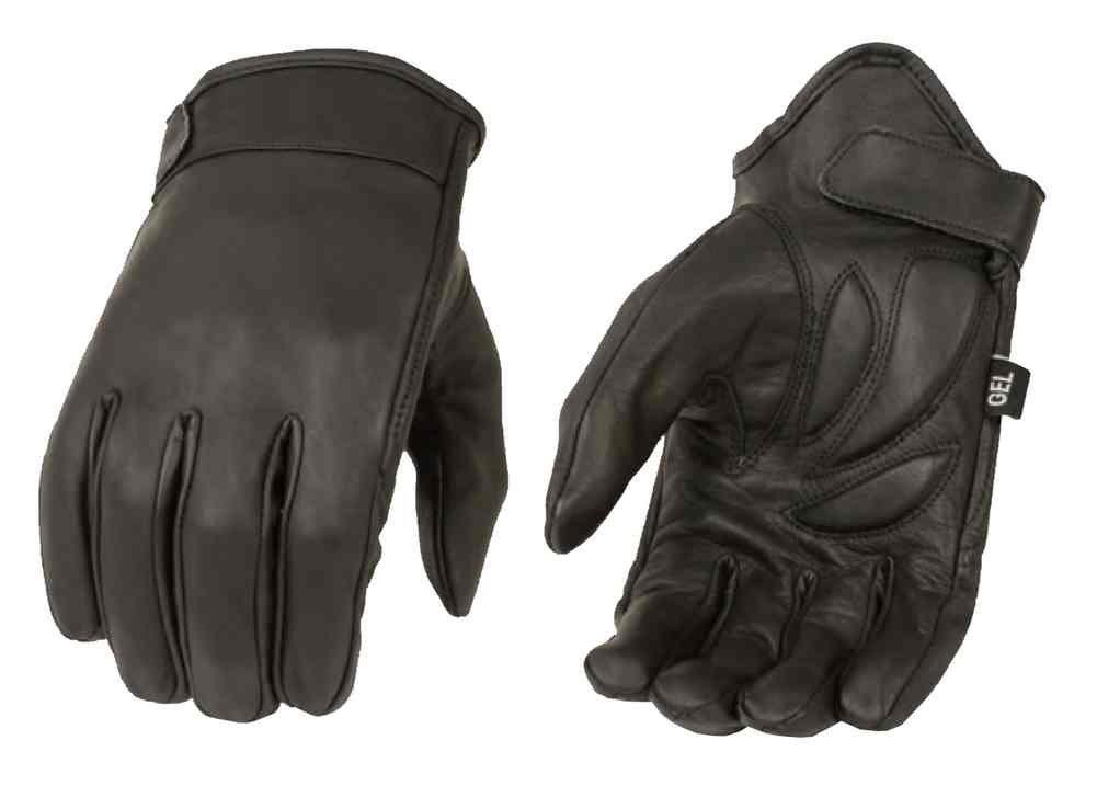 Milwaukee Leather Men's Premium Leather Short Cruiser Gloves, Black MG7510 (L) Milwaukee Leather Men' s Premium Leather Short Cruiser Gloves Shaf International MG7510-L