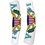 Virgin Islands - US Flag Compression Arm Sleeves UV Protection Unisex - Walking - Cycling - Running - Golf - Baseball - Basketball