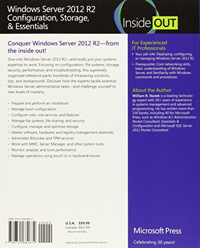 51LO ceF0cL - Windows Server 2012 R2 Inside Out Volume 1: Configuration, Storage, Essentials