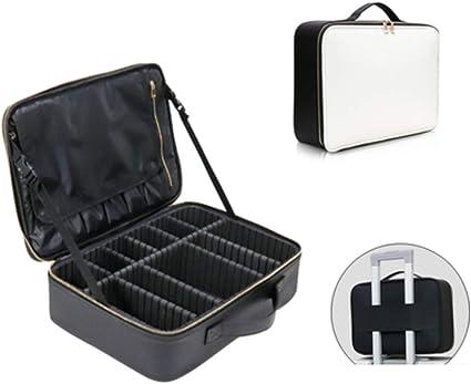 Kit de almacenamiento de maquillaje profesional multifuncional estuche maquillaje bolsa,White: Amazon.es: Belleza