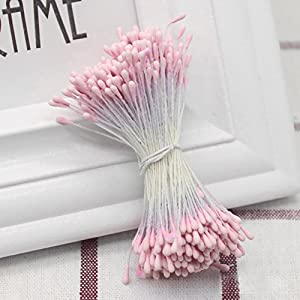 Flower Stamens, 400 Pieces Mini Pistil Artificial Flower Head for Scrapbooking Decoration 13