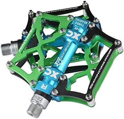 ROCKBROS Pedales para Bicicleta de Aleación de Aluminio Plataforma ...