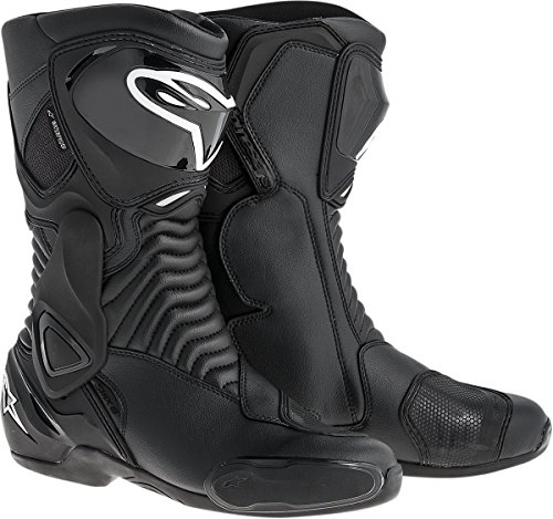 (Alpinestars SMX-6 Waterproof Men's Motorcycle Street Boots (Black, EU Size 43))