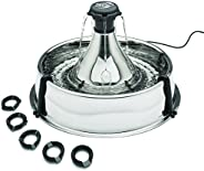 PetSafe Drinkwell Stainless 360 Multi-Pet Fountain - 3.8 Litre Capacity Water Dispenser for Cats and Dogs - Cu