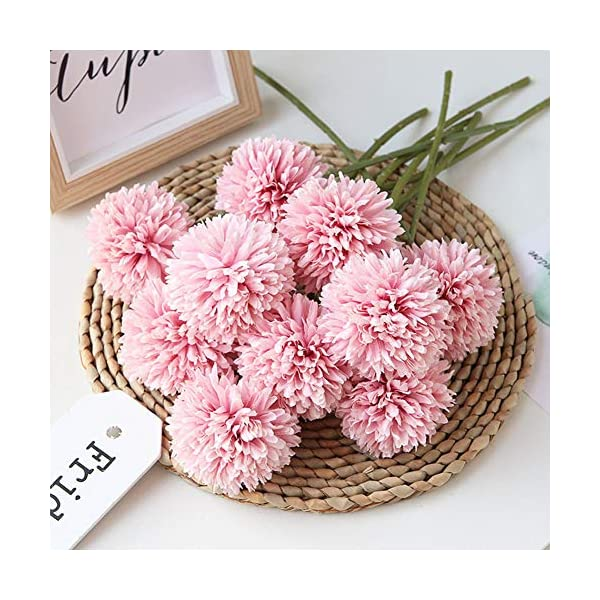 Homyu-Artificial-Chrysanthemum-Ball-Flowers-Bouquet-10pcs-Present-for-Important-People-Glorious-Moral-for-Home-Office-Coffee-House-Parties-and-Wedding