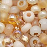 Czech Seed Beads 6/0 'Saharan Sands' Mix Cream Tan (1 Ounce)