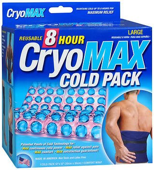 Cryo-MAX Reusable Cold Pack 8 Hour Large, 12 X 12 - Each, Pack of 6 by Cryo-Max