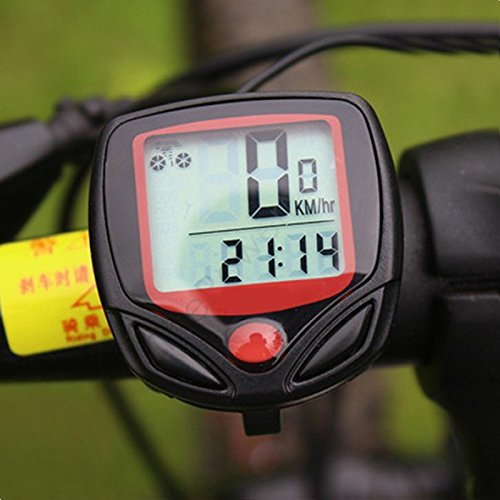 Clock Max Speed Electronix Express Waterproof Multifunction Bicycle Computer Avg Speed Speed Trip Riding Time Trip Distance Odometer MPH//KPH Selectable