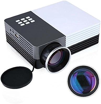 Gearmax® Mini proyector LED portátil 480x320 Multimedia Teatro ...