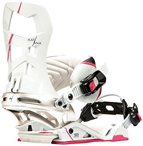 Rome Katana Bindings - Women's 2016 - bone, s/m by Rome (Rome Katana Snowboard Bindings)