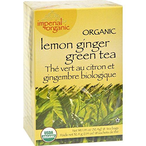 Uncle Lee s Tea Organic Imperial Lemon Ginger - 18 Bags - 95%+ Organic -
