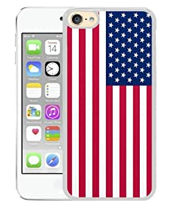iPod Touch 6 Case ,49 star american flag White iPod Touch 6 Cover Unqiue And Durable Custom Designed Phone Case