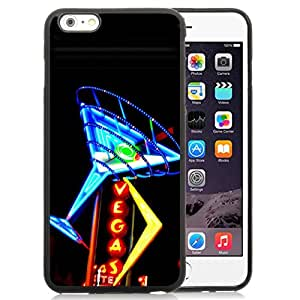 Unique Iphone 6 Plus Case Design with Las Vegas iphone 6 Plus 5.5 Inch Black TPU Case