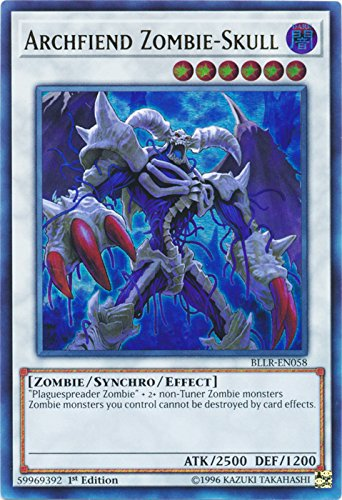 Archfiend Zombie-Skull - BLLR-EN058 - Ultra Rare - 1st Edition - Battles of Legend: Light's Revenge (1st Edition)