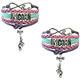Unicorn Bracelet for Girls | BFF Best Friends Unicorn Gifts Set for Teen Girls | Unicorn Accessories | Double Friendship Bracelet | Cute Unicorn Stuff Items for Sister