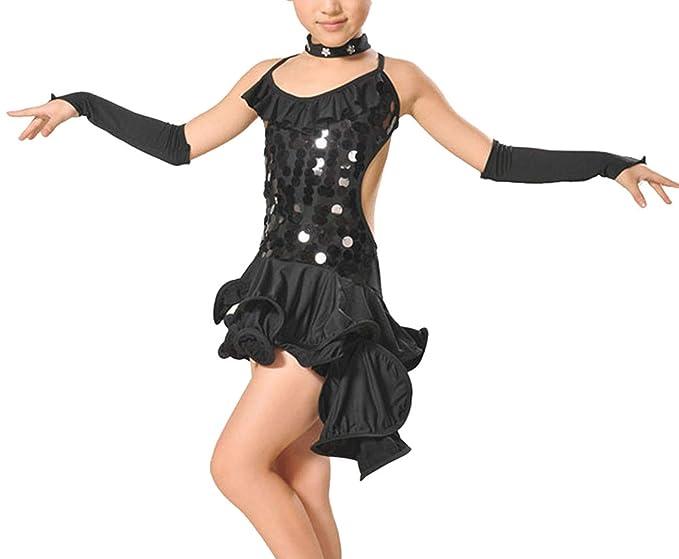 457015a8c52c Happy Cherry Girls Dance Dress Backless Latin Dress Children ...