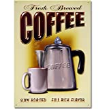 Fresh Brewed Coffee Tin Sign 12 x 17in