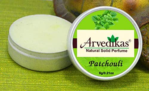 Arvedikas Patchouli Natural Solid Perfume Beeswax/Mini Jar/Floral Fragrance/Patchouli Perfume/Scented Balm/Skin Friendly/Alcohol Free/Body Musk/Body Parfum / (6gm each - 0.21oz)