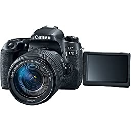 Canon EOS 77D 24.2 MP DSLR Camera with EF-S 18-135mm IS USM & Sigma 70-300mm Macro Telephoto Zoom Lens + Accessory Bundle