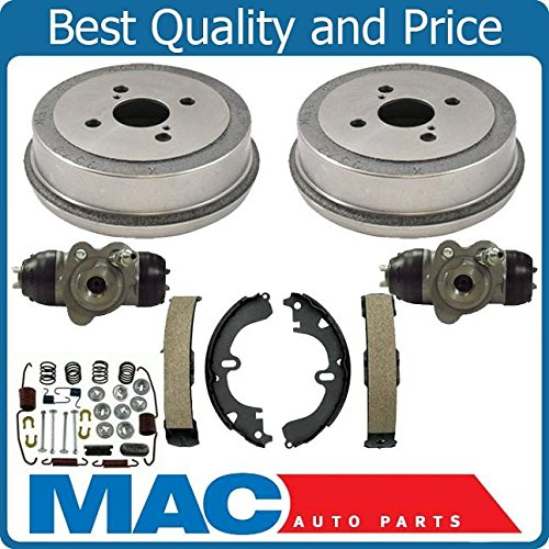 Rear Brake Drums Shoes Spring Kit Wheel Cylinder For Corolla 94-02 Non-ABS ()