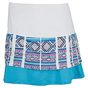 Lucky in Love Modern Mayan Border Skirt-X-Large-Ocean