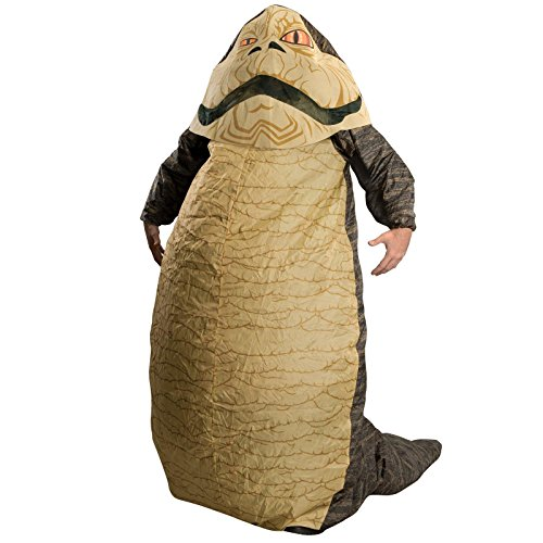 Official Star Wars Costumes Reviews (Star Wars Jabba The Hut Deluxe Inflatable Adult Costume, Brown, One Size (Fits Up To 44 Jacket Size))