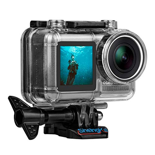 Cywulin Waterproof Case Compatible for DJI OSMO Action Camera Housing Case Protective Frame Diving 45M Depth Underwater Dive Case for DJI Osmo Action Sports Camera (Clear)