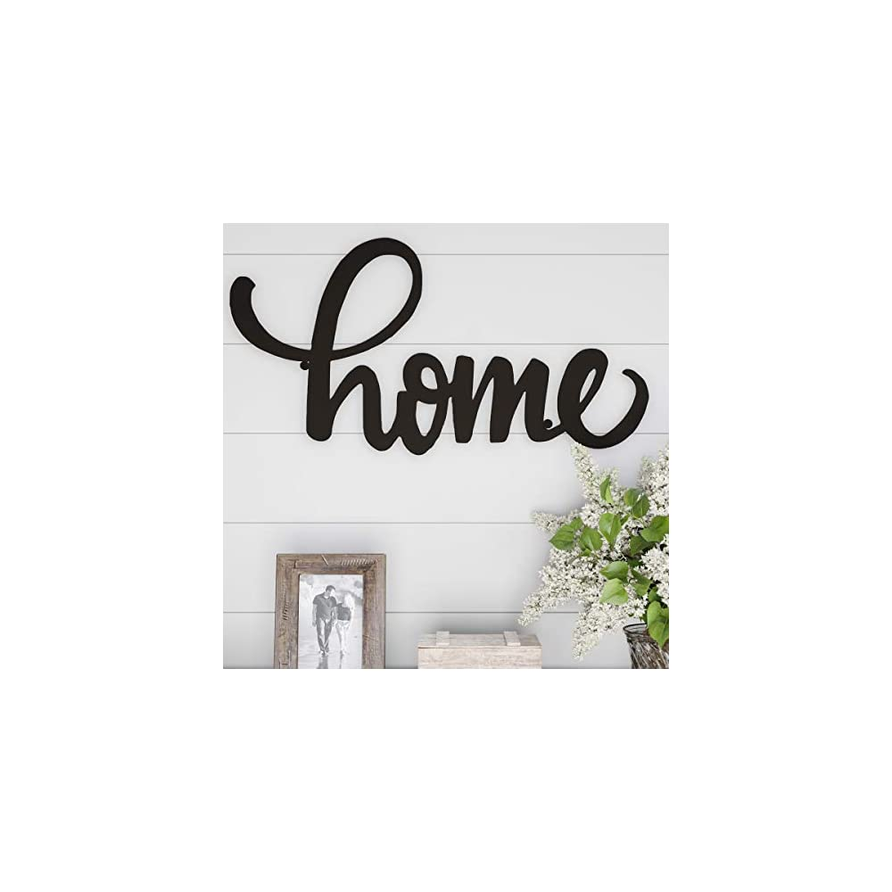 Lavish Home Metal Cutout Wall Sign-3D Word Art Home Accent Decor-Perfect for Modern Rustic or Vintage Farmhouse Style…