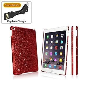 iPad Air 2 Case, BoxWave [Glamour & Glitz Case] Slim, Snap-On Glitter Cover for Apple iPad Air 2 - Ruby