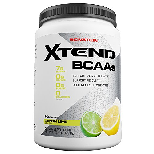 Scivation Xtend BCAA Powder, Branched Chain Amino Acids, BCAAs, Lemon Lime, 90 Servings