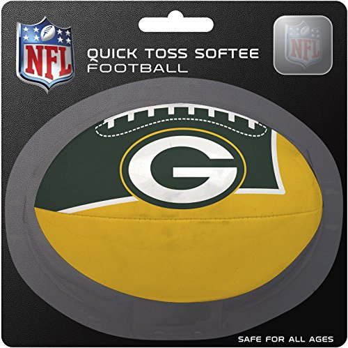 NFL Green Bay Packers Kids Quick Toss Softee Football, Green, Small