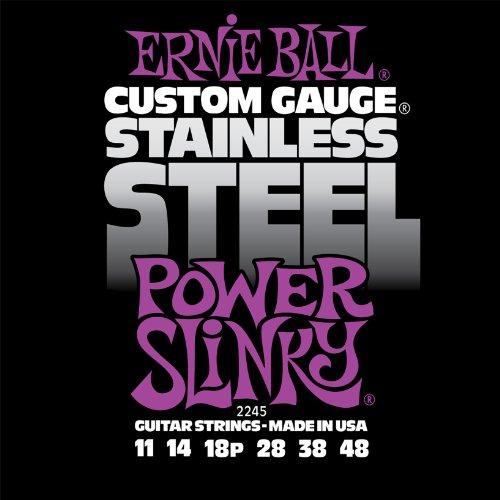 Ernie Ball Stainless Steel Power Slinky Set, .011 - .048