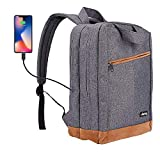 Laptop Backpack,Business Anti Theft Slim Durable Laptops Backpack with USB Port,College School Computer Bag,Fit 15.6 Inch Laptop and Notebook-Gray